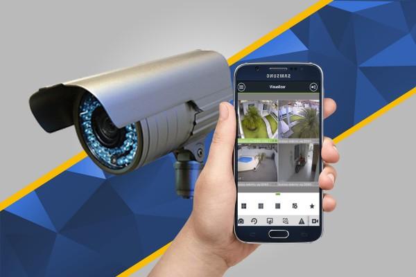 Câmeras se segurança (cftv) imagens via celular em Curitiba